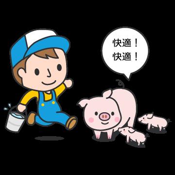 豚の育成は良好な環境の元で